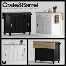 crate barrel belmont kitchen island 3d