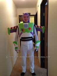 the main construction of the buzz lightyear costume is