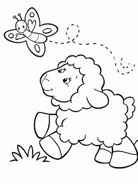 Small Picture Sheep Pictures To Color Coloring Home