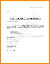 Working Certificate Format Of Employment Doc Sample