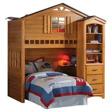 kids loft bed. Tree House Kids Loft Bed - Rustic Oak(Twin) Acme Kids Loft Bed
