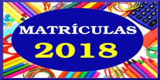 Resultado de imagem para MATRICULA 2018