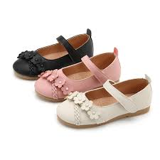 Pink Black <b>2019New Kid Shoes</b> Childrens Girls Shoes Flowers ...