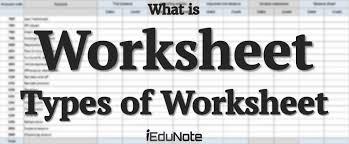 Worksheet Definition Types Preparation Process Explained