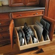 kitchen cabinet storage ideas. Beautiful Cabinet Love This Idea For My Pans In Kitchen Cabinet Storage Ideas T
