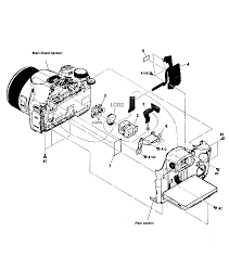 Sony camera parts model dschx300 sears partsdirect main assy 555 timer internal diagram electrical