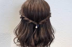 入園式のママ母親の髪型でボブやミディアムショートの簡単ヘアアレンジ