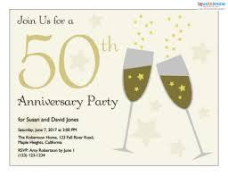 Wedding Anniversary Invitation Templates Free Wedding