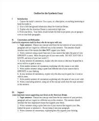Sample Synthesis Essays Example Outline Essay Synthesis Essay Outline Synthesis Essay Sample