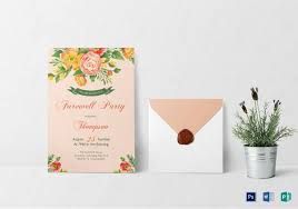 Invitation Cards For Farewell Party Farewell Party Invitation Template 29 Free Psd Format Download
