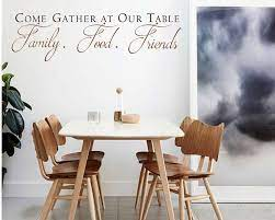 come gather at our table decal with