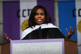 matt damon s mit commencement speech watch com michelle obama delivers commencement address at the city college of new york