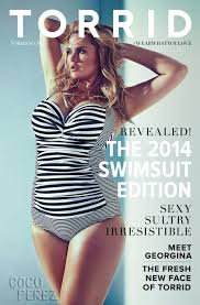 plus size catalogs torrid signs plus size model georgina burke as the first face of