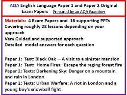 Past papers aqa english language