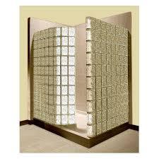 pittsburgh corning premiere series decora biscuit glass block wall acrylic floor rectangle 2 piece corner