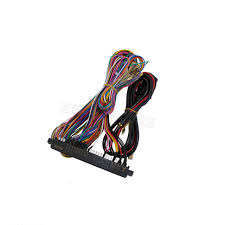 2 pcs classical arcade diy jamma wire harness for arcade game jamma harness color code at Jamma Wiring Harness