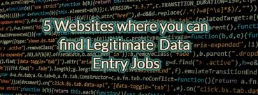 Top Rated Job Sites Online Data Entry Jobs 5 Legitimate Websites To Find Them