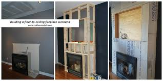 a how to for building a fireplace surround
