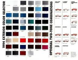 Aston Martin Color Chart Details About 1994 Chevy Truck Color Chart Chip Paint Sample Brochure Blazer Pickup Van Astro