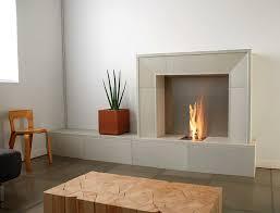 modern electric fireplace grey stone