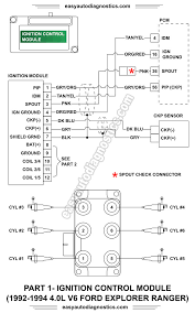 part l ford explorer ranger ignition system 1992 1993 1994 4 0l ford explorer and ranger ignition control module wiring diagram