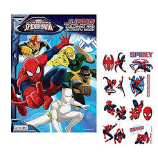 72 spiderman pictures to print and color. Bendon Marvel Ultimate Spider Man Jumbo Coloring Activity Book Plus Bonus Temporary Tattoos Educational Toys Planet