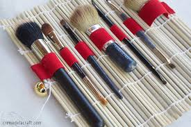 diy no sew makeup brush holder