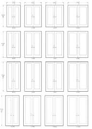 Interior French Door Sizes Size Chart Standard Heights Doors