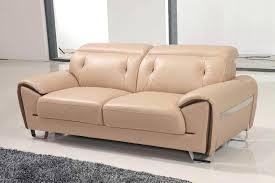 beige leather sofa. Lovely Beige Contemporary Half Leather Sofa Set Living Room P . Small Sectional Couch