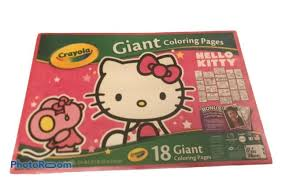 Check out our hello kitty coloring selection for the very best in unique or custom, handmade pieces from our coloring books shops. Crayola Hello Kitty 18 Giant Coloring Pages For Sale Online Ebay