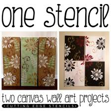 create gorgeous wall art on canvas using the splash pattern wall stencil kit http  on diy stencil canvas wall art with one stencil two canvas wall art projects