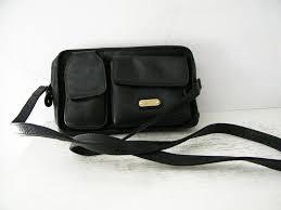 land black columbian leather travel organizer purse to expand