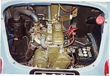 renault 4cv the longitudinally mounted rear engine 1960 750 cc
