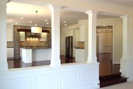 half wall with column basement half walls and design columns ideas basement masters wall column design half wall