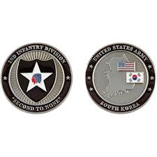 challenge coin c casey 2nd infantry coin
