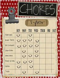 Make A Chore List 21 Chore Cards And Chore Charts To Print Tip Junkie