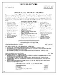 Construction Superintendent Resume Templates Impressive Construction Superintendent Resume Templates Inspirational Project