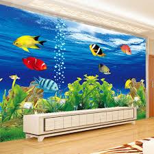 Aquarium Mural Design Us 8 23 55 Off Custom Photo Wallpaper 3d Stereoscopic Ocean Aquarium Sofa Tv Background Wall Decorations Living Room Modern Mural Wall Paper In