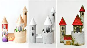 diy make a castle from cardboard rolls other recyclable materials