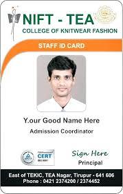 Card Template School Id Format International Student Design Free