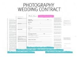 Wedding Photography Contract Form Template Monster Reviews Printable Sample Wedding Photography