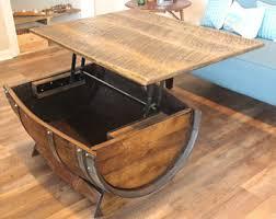 wood barrel furniture. Wine Barrel Coffee Table/ Table/Home Decor/ Indoor Furniture/ Outdoor Furniture Wood