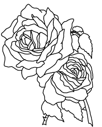 simple coloring pages of roses free printable for kids