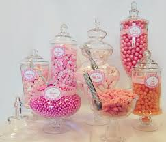 large glass containers for candy buffet designs