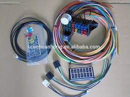 street rod wiring street image wiring diagram whole cnch new 14 circuit basic wire kit small wiring harness on street rod wiring