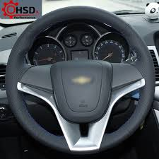 details about best quality hand sewing leather steering wheel cover for chevrolet cruze aveo
