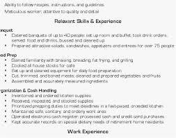 Steward Resume Sample Picture Line Cook Resume Prep Cook Job