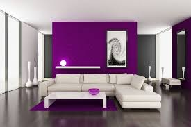 Good Accent Wall Color Ideas With Beautiful Purple Accent Wall In Living  Room
