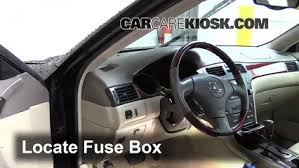 interior fuse box location 2002 2006 lexus es330 2004 lexus locate interior fuse box and remove cover