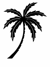 Palm Tree Tree Tropic Black And White Palm Tree Clipart No
